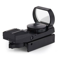 1 x 22 x 33 Hunting Holographic Reflex Red Green Dot Sight Scope 20mm Shockproof RifleScope for Sniper Rifle Shotgun