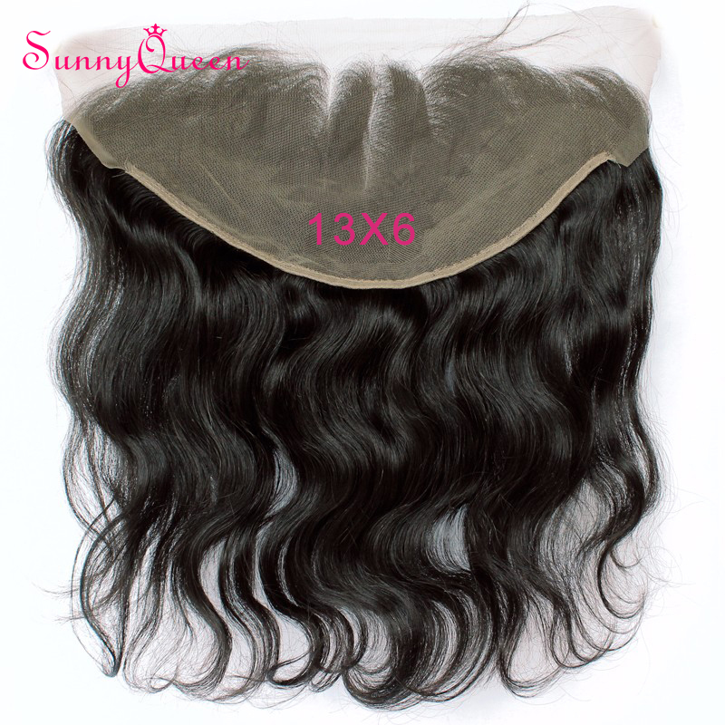 7A Grade 13x6 Ear to Ear Lace Frontal Closure with Baby Hair Bleached Knots 130% Density Brazilian Body Wave Full Lace   Frontal<br><br>Aliexpress