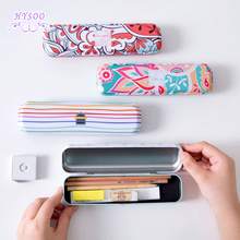 Tinplate Stationery Children 's Learning Supplies Primary School Students Creative Multifunctional Iron Box Pencil Case(China)