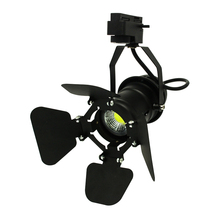 7W COB Led Track light LED clothing store lighting LED Spotlight with adjustable cover on front(China)