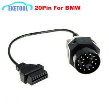 OBD2 Connector Diagnostic Cable For BMW 20PIN to 16Pin High Quality With Full Pins Assignment For BMW E36 E39 X5 Z3