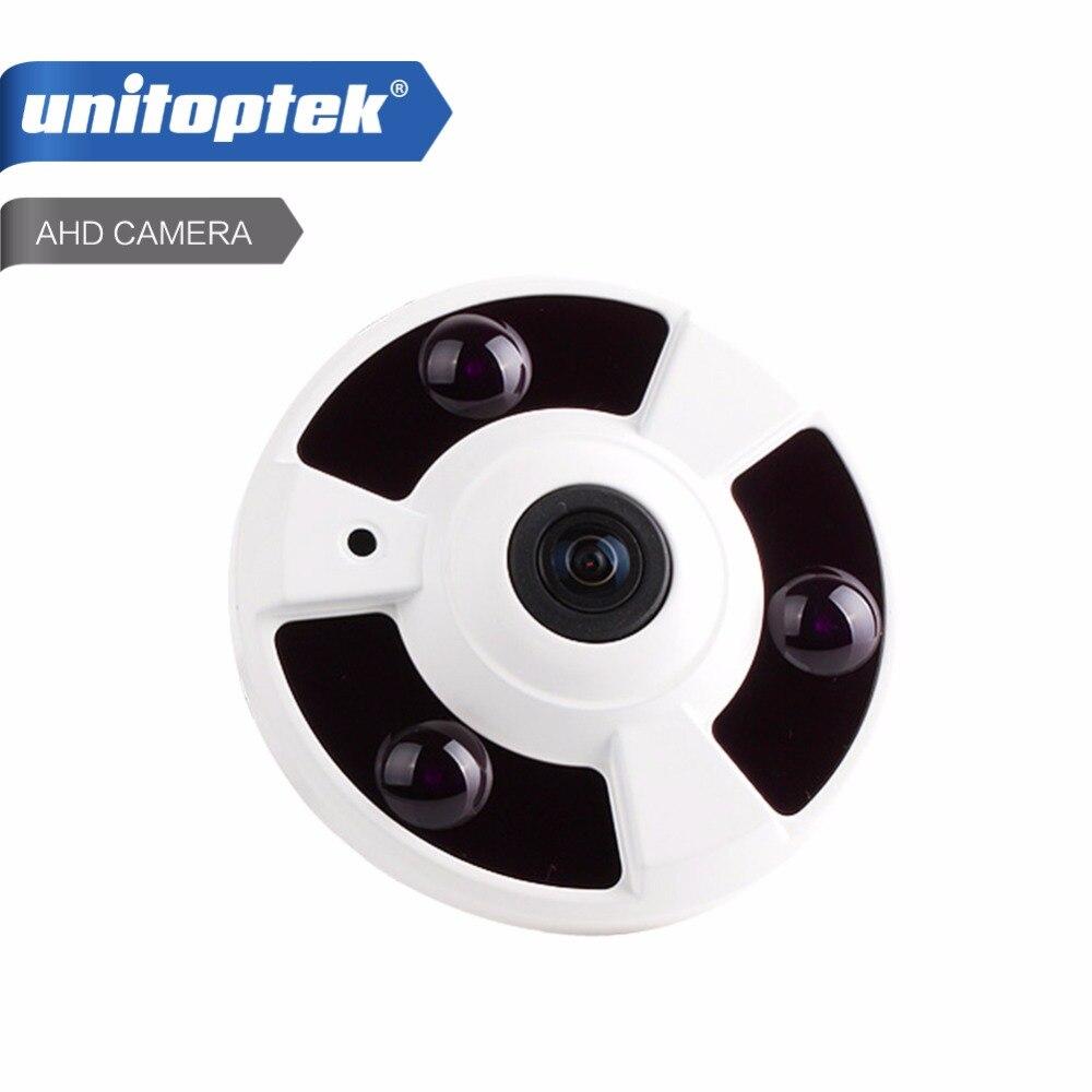 Panoramic 360 Degree View CCTV AHD Camera 2MP Analog HD Fisheye Lens Panorama 1080P Security AHD Camera IR 10m,Metal<br>