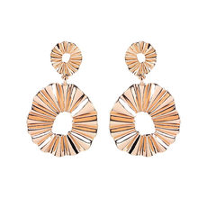 Vintage Dangle Earrings For Women Gold Color Statement Earring 2018 Round Bold Geometric Earing Hanging Party Jewelry