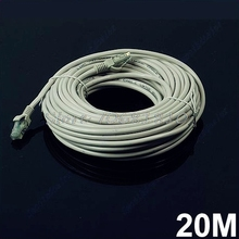 20M 65 FT RJ45 CAT5 CAT5E Ethernet Internet LAN Network Cord Cable Gray New -R179 Drop Shipping(China)