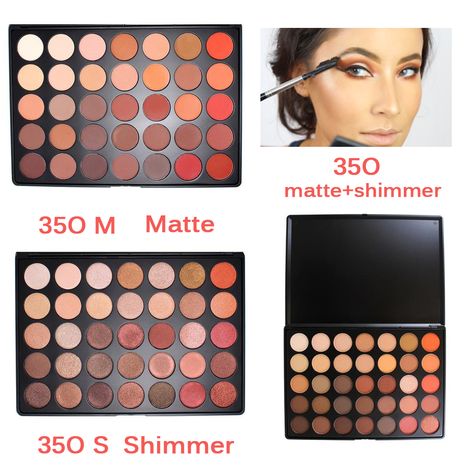 Newest 350 Palette 35 Color Eyeshadow Palette Earth Warm Color Shimmer Matte Eye Shadow Cosmetic Beauty Makeup Set 35W 35K 35F<br><br>Aliexpress