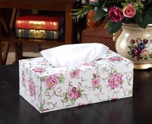 Aikeen 3Size Flower Napkin Box Home Office Room Table Organize Desk Set, Tissue Cases(China)