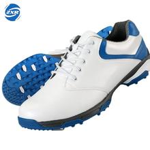 waterproof breathable patent design men outdoor sport shoes anti-skid super light good grip comfortable leather golf shoes(China)