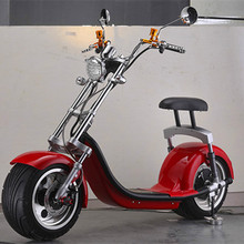 Good quality OEM export EEC 2017 Harley electric scooter 1200w citycoco electric scooter with big wheels front fork