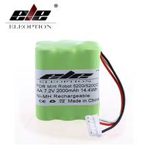 ELEOPTION High Quality 7.2V 2000mAh Ni-MH Rechargeable Vacuum Battery for Mint 5200/5200C 7.2 Volt