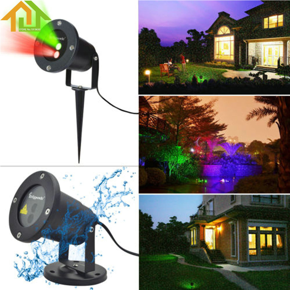 Waterproof Garden Tree Moving Laser Projector LED Stage Light Sparkling Landscape Lights for Outdoor /Indoor Home/House Decorati<br>