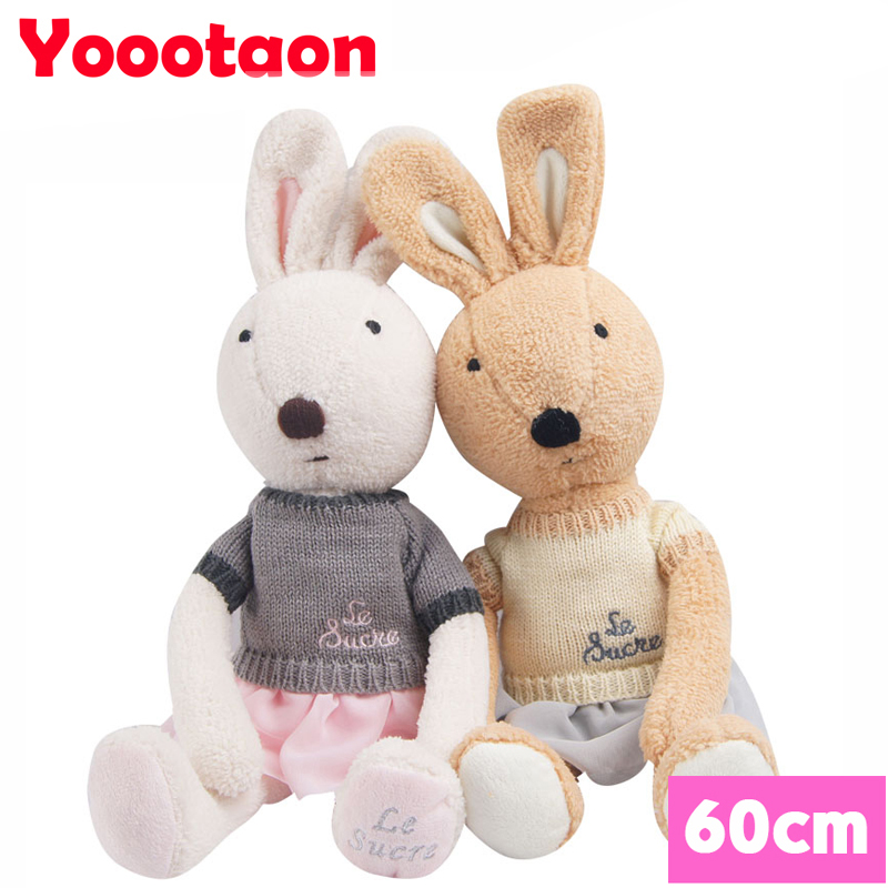 60cm Kawaii le sucre bunny rabbit plush toys High-quality play house Stuffed dolls clothing can be take off.<br><br>Aliexpress