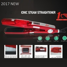 Steam professional flat iron hair straightener fast electric straightening Ceramic titanium plate Temperature control(China)