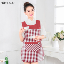 Korea Home Women Apron Custom Kitchen Apron Bib Party Kids Cook Aprons Chef With Pocket Keuken Schort Tablier Free Shipping