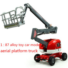 Free shipping!2014 super cool ! 1 : 87 alloy slide toy models construction vehicles aerial platform truck, Baby educational toys