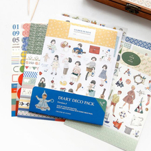 Student Stationery stickers Note Paper Decoration Calendar Stickers Bookmarks Stickers Sticky Notepad Stationery Supplies #105(China)