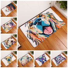 2017 Modern Style Anti-Slip Lovely Carpets Pet Dog Print Mats Bathroom Floor Kitchen Rugs Animal Front Door Mats 40X60/50X80 cm
