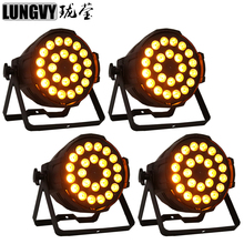 Free Shipping 4pcs/Lot 24x18w Rgbaw Uv 6in1 Indoor Led Par Stage Light Led Par64 Can Lights Dj Disco Strobe Lighting Home Party(China)