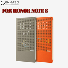 "For Huawei Honor Note 8 Note8 6.6"" inch Phone Cover Original From CENMASO Colorful Smart Windows Flip Grid Heat PC Official Case(China)"