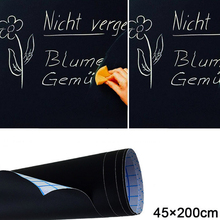 Great 45x200cm Chalk Board Blackboard Stickers Removable Draw Decor Mural Decals Art