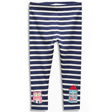 18m-6yrs Spring Autumn Children's Striped Trousers Pants Blue Stripes Pants Girl Clothing Cotton Leggings(China)