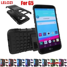 LELOZI Hard Armor Rugged PC Plastic Hybrid TPU Phone Mobile Mobil Carcasa Etui Case kryty Capinha Cove For LG G5 Outdoor Cheap