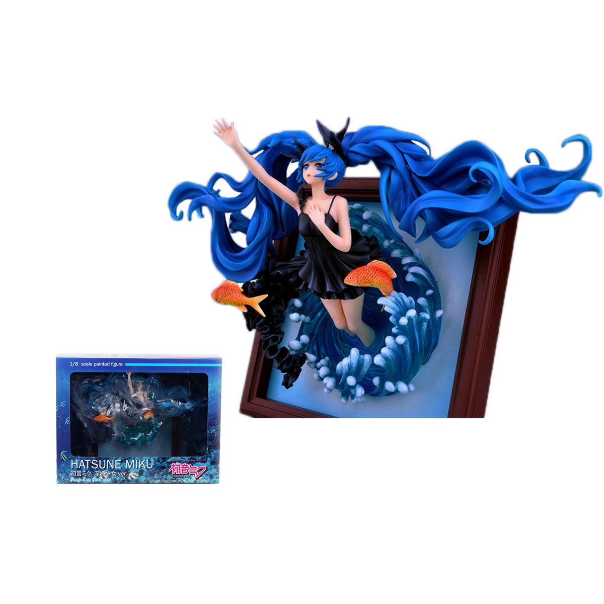 Janpan Vocaloid Hatsune Miku Anime Figure Photo Frame Deep Sea Girl Ver. 1/8 Scale PVC Figure Collection Model Doll Toy 35cm<br><br>Aliexpress