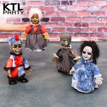 Halloween can walking toy dolls cute decorations glowing ghosts and wizards into creative decorative items Decoration(China)