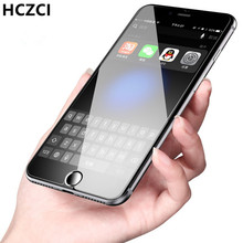Hczci new Lot Arc 0.26mm For iphone8 8plus   Tempered Glass Phone screen saver 2.5D 9H for iPhone8 8plus protective film