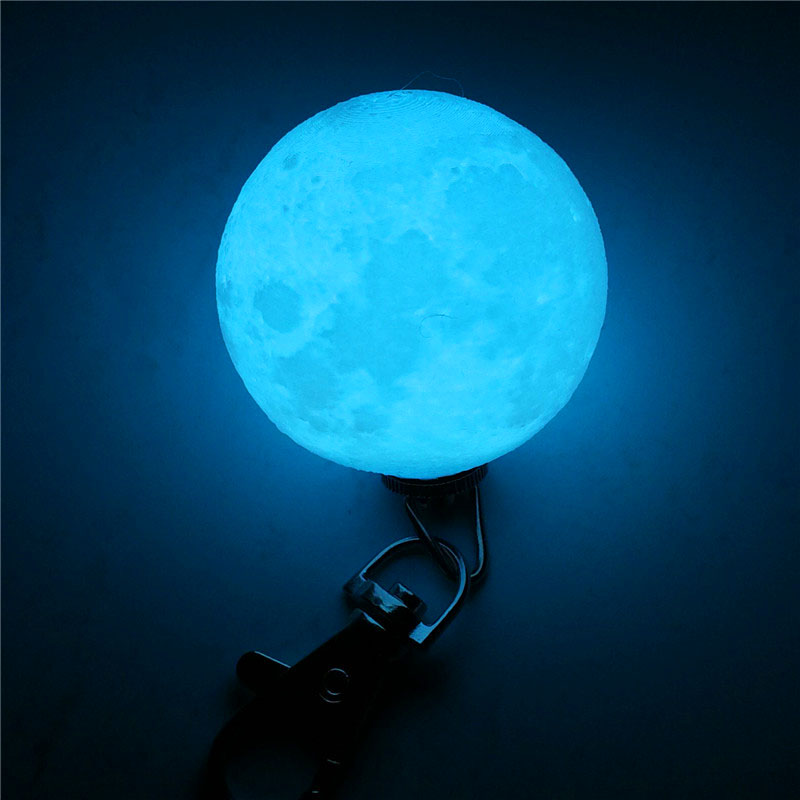 Mini 3D Print Moon Lamp 4cm LED Night Lights Novelty Moon Lamps Keychain Button Battery Powered Key Holder Bag Pendant Baby Gift (7)