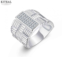 Kiteal Men's jewelry Gorgeous silver plated ring Thumb ring zircon for men size 8 9 10 anel fine fashion jewelry