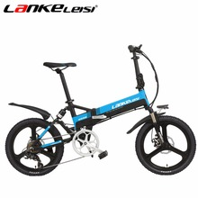 LANKELEISI Ebike 20Inch 48V/240W 10AH Lithium e Bike 7-Speed Folding Full Suspension Bicycle 5 Electric Bicycle Motor Gear(China)
