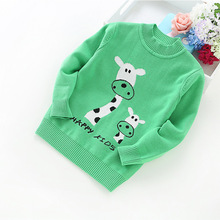 2016 fashion 2-6 years baby sweaters cotton sweater winter children's clothing boys and girls cartoon sweaters  8517