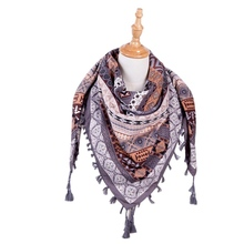 New Winter Warm Women Scarf Square Scarves Female Wraps Winter Tassel Printed Shawls Blanket Scarf Hot(China)