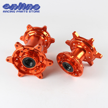 CNC Billet Orange MX Front Rear Wheels Hubs Set New For KTM 125-530 2003-2017 Motocross Motorcycle Dirt Bike Free Shipping(China)