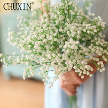Rustic decorative babysbreath flower interspersion artificial plastic flower arranging accessories for rose Photo background