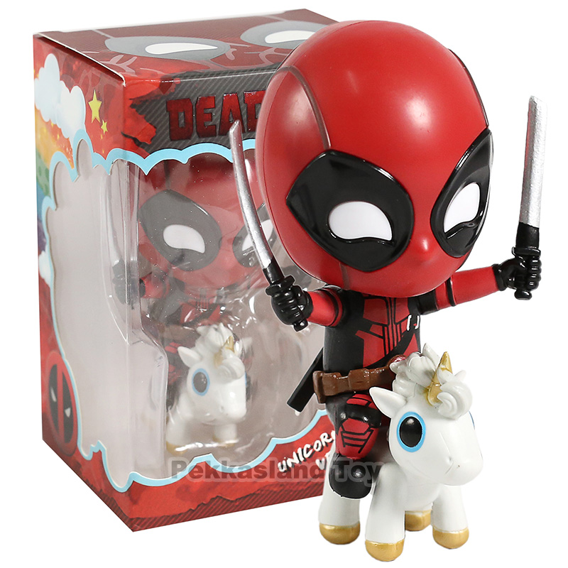 Marvel Deadpool Unicorn Riding Version Deadpool PVC Action Figure Toys