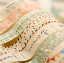 DIY Cute Satin Lace Decorative Tape Adhesive Tape Washi Fabric Tape Stickers Masking Tape Stationery School Supplies