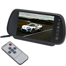 Free shipping 7 inch LCD car rearview mirror monitor backup parking sensor DVD / GPS / TV multimedia screen display