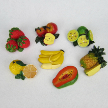 Creative 3D Fruits Fridge Magnets Handmade Resin Refrigerator Magnetic Stickers Home Decor Creative Decoration