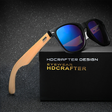 HDCRAFTER Hot sale Retro Wood Sunglasses Unisex glasses ultraviolet prevention Night vision glasses for Men/Women(China)