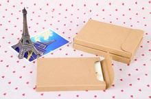 10.8*15.5+1.5cm Kraft Paper Envelope Party Invitation Card Letter Stationery Packaging Bag Gift Greeting Card Postcard Photo Box