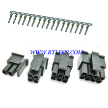 1000pcs Micro-Fit 3.0 mm Connector Dual Row Male Housing 2x1 2 Pin 4 6 8 10 12 14 16 18 20 22 24 Pin / Female Terminal