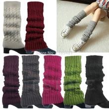 Christmas Gifts Women Winter Warm Slouch Knit Crochet High Knee Leg Warmers Leggings Boot