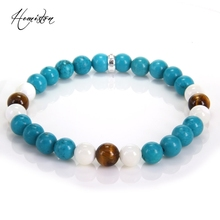 Thomas Colorful Material Mix Featuring Cyan Stone Tiger Eye  Bead Bracelet, Glam Jewelry Soul Gift for Women TS-196