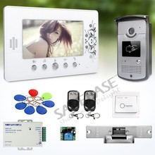 "7"" Wired Video Door Phone Intercom System with IR Night Vision for Home Security"