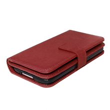 HATOLY For Samsung Galaxy S5 Leather Case i9600 Flip Wallet Case For Samsung S5 Soft Rubber Cover Card Holder Mobile Phone Bag <