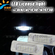 Factory Wholesale auto led license plate light car tail number license plate lamp for BENZ W210 4D Sedan, W202 4D Sedan Facelift(China)