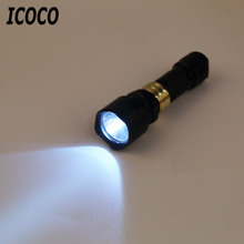 ICOCO Mini Portable T6 LED 900lm 100-300m distance 3W Aluminum LED Flashlight Torch Small Lamp Camping Light for Outdoor