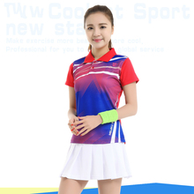 Table Shirt Tennis Skirt Badminton Wear Female Suits Summer Women's Sport Culottes Quick Dry Clothes Two Piece Set for Girls