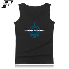 New Arrived Lyoko Logo Cotton Tank Top Summer Vest And Plus Size Cartoon Code Lyoko Sleeveless Tank Tops Mens XXS To 4XL Clothes